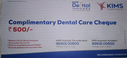 kims dental care offers